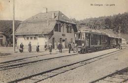 CPA  St-Cergue – La Gare (Tramway à La Station) - VD Waadt
