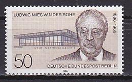 Berlin West, 1986, Ludwig Mies Van Der Rohe, 50pf, MNH - Ungebraucht