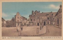 La Ferté-Bernard.  La Place Ledru-Rollin Et Rue De Paris - La Ferte Bernard