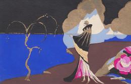 Illustratori - Nasmeshnikoff - Meschini  - Donna In Riv Al Mare  - F. Piccolo - Scritta - Molto Bella - Rara - Other Illustrators