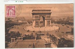 """Carte Paris Arc De Triomphe Avec Type Sage 5F N°216 Et Cachet """" Exposition Philatélique/ Paris, 1925"""" - Covers & Documents"""