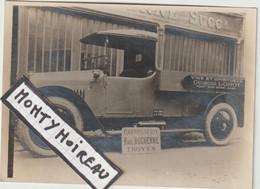 Bru 14 , V P : Aube - Troyes : Carosserie Paul Duchenne : Photo  Env. 12 Par 9 Cm , Automobile, Vin Lobot Pont Sur Seine - Documenti Storici