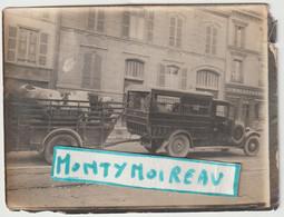 Bru 14 , V P : Aube - Troyes : Carosserie Paul Duchenne : Photo  Env. 12 Par 9 Cm , Automobile,charette  ,boeufs - Documenti Storici