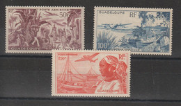 Guadeloupe 1947 Vues PA 13-15  3 Val ** MNH - Airmail