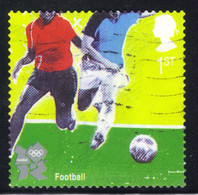 GB 2010 QE2 1st Olympic & Paralympic Football SG 3108a Self Adhesive ( R560 ) - Gebraucht