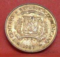 1 Centavo 1987 - TTB - Pièce De Monnaie Collection Dominicaine - N19754 - Dominicana