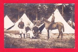 Milit-984Ph111  Carte Photo, Groupe De Militaires Devant Les Tentes, Col 77, Photo Le Mans, Cpa - Altri