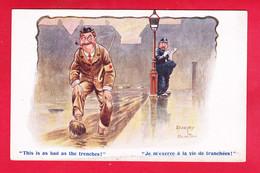 Illust-1436A15 DUDLEY BUXTON, Je M'exerce à La Vie De Tranchées, Franco Anglaise, BE - Autres Illustrateurs