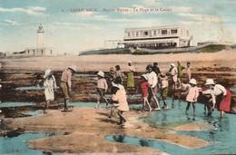 CASABLANCA (Maroc) à Petit Prix - Roches Noires -La Plage Et Le Casino - Cpa De 1927 - Bon état - 2 Scans - Casablanca