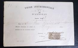 Ardèche Union Instrumentale D'Annonay 1893 - Zonder Classificatie