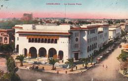 CASABLANCA (Maroc) à Petit Prix - La Grande Poste  - Cpa De 1933 - Bon état - 2 Scans - Casablanca