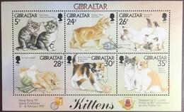 Gibraltar 1997 Cats Sheetlet MNH - Domestic Cats