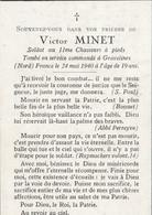ABL , Victor Minet , Tombé En Sevice Commandé à Gravelines ( Nord )  ( France )le 24 Mai 1940 - Overlijden