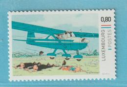 TINTIN - KUIFJE Vliegtuig - KL22 - LUXEMBOURG  ** MNH - Comics