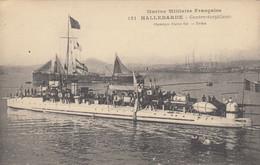 MARINE MILITAIRE FRANCAISE- HALLEBARDE CONTRE-TORPILLEUR - Warships