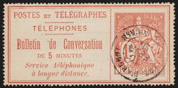 France Timbres-Téléphone N°5, Chaplain 1fr Rouge, Oblitéré COTE 35€ - TB - Telegraph And Telephone