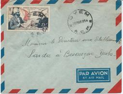 LETTRE PAR AVION  1954 AVEC CACHET DE OYEM (GABON) - Lettres & Documents