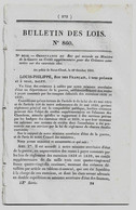 Bulletin Des Lois 860 1841 Crédit Chemin De Fer Strasbourg à Bâle/Mines De Houille De Decize (Nièvre)/Finances... - Wetten & Decreten