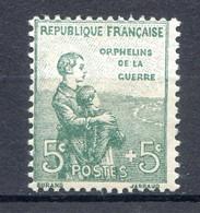 1ERE ORPHELINS N°149* Charnière - Nuovi