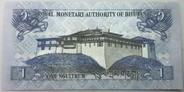 Billete Bhutan. 2013. 1 Ngultrum. SC. Sin Circular. Posibilidad De Números Correlativos, Billete Sacado De Un Taco. - Bhutan