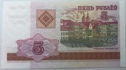 Billete Bielorrusia. 2000. 5 Rublos. SC. Sin Circular. Posibilidad De Números Correlativos, Billete Sacado De Un Taco. - Bhutan