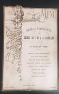 Annonay Petit Menu Fête Du Personnel USINE DE FAYA Et MARMATY 1903 Restaurant Velay - Historische Documenten