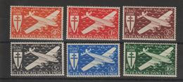 Inde 1942 Série Londres PA 1-6 , 6 Val ** MNH - Nuevos