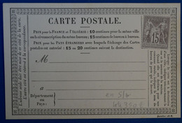 J 1 FRANCE BELLE CARTE RARE 1876 TIMBRE SAGE NEUF N 66 FORTE COTE  . DONC NON VOYAGEE - 1876-1878 Sage (Typ I)