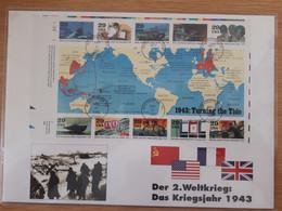 "USA Block 32 ""Zweiter Weltkrieg 1943-Turning The Tide"" (1 Bl.) SST WASHINGTON DC MAY 31 1993 - Briefe U. Dokumente"