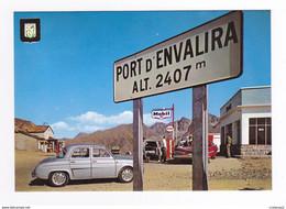 Valls D'Andorra Andorre N°142 Port D'Envalira Station Essence ESSO MOBIL Buick Renault Dauphine Camion Peugeot 404 - Andorra