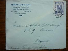 1928  Lettre  1F 75  Cathédrale    Cachet BRUXELLES    PERFECT - Covers & Documents