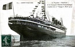 Thèmes Transports Bateaux ST NAZAIRE LE PAQURBOT 1912    VOIR IMAGES - Other