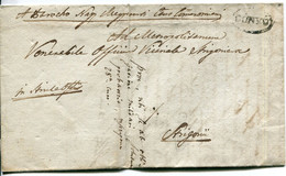 Isole Ionie (1849) Piego Da Corfù Per Esztergom (strigonio), Contenuto Ecclesiastico In Ungherese - ...-1861 Prephilately