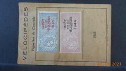 Vignettes De Contrôle, Impôts Sur Les Vélocipèdes 1943/1944 - Unclassified