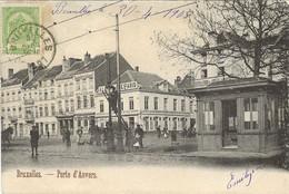 REF4874/ CP-PK Bruxelles Porte D'Anvers Distillerie De La Ville D'Anvers  Animée TP 53 C.BXL 1905 > Paris France - Piazze