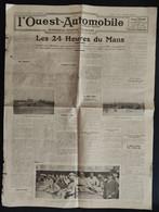 1934 L'OUEST AUTOMOBILE - LES 24 HEURES DU MANS - ALFA ROMÉO - ETANCELIN - Altri