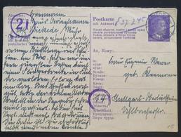 Deutsches Reich 1945, Antwort Postkarte P310F WICKEDE Ostarbeiterkarte - - Storia Postale