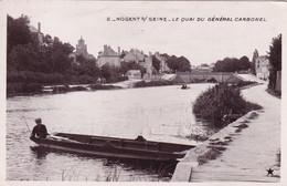 """NOGENT Sur SEINE -  Le Quai Du Général Carbonel   - Carte Postale Offerte Par """" Le Petit Journal """" - Nogent-sur-Seine"""