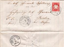 Bayern 1881, K1 RUDERATSHOFEN Auf Brief M. 10 Pf. V. Apfeltrang N. Rieden Füssen - Bavaria
