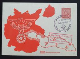 """Deutsches Reich 1938, Postkarte """"Tag Der Befreiung"""" GABLONZ Sonderstempel - Storia Postale"""