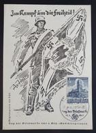 """Deutsches Reich 1941, Postkarte """"Kampf Um Die Freiheit"""" SCHWERIN Sonderstempel - Storia Postale"""