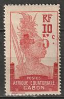 Gabon 1916 Sc B2 Yt 80 MLH* Partial Gum - Ungebraucht
