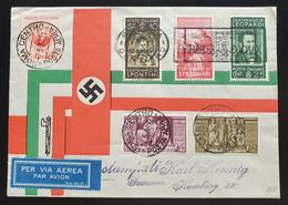 "Italien 1938, Brief MiF ROM Nach Hamburg ""per Via Aerea"" - Propaganda Di Guerra"