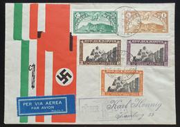 "San Marino 1938, Brief MiF SAN MARINO Nach Hamburg ""per Via Aerea"" - Storia Postale"