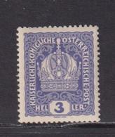 AUSTRIA  -  1916-19 3h Hinged Mint - Ongebruikt
