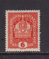 AUSTRIA  -  1916-19 6h Hinged Mint - Ongebruikt
