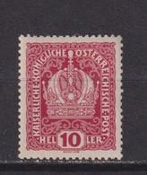 AUSTRIA  -  1916-19 10h Hinged Mint - Ongebruikt