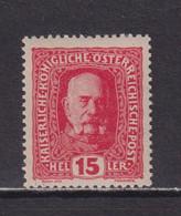 AUSTRIA  -  1916-19 15h Hinged Mint - Ongebruikt