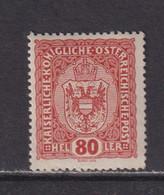 AUSTRIA  -  1916-19 80h Hinged Mint - Ongebruikt