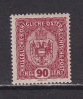 AUSTRIA  -  1916-19 90h Hinged Mint - Ongebruikt
